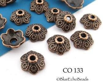 10mm Copper Bead Cap Antiqued Copper Bead Caps (CO 133) BlueEchoBeads 20 pcs