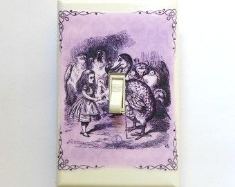 5 different colors- Alice in Wonderland Switchplates & MATCHING SCREWS- Alice in Wonderland room decoration Alice in Wonderland nursery wall