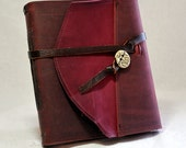 NEW Deep Pink Leather Journal with Pink Paper