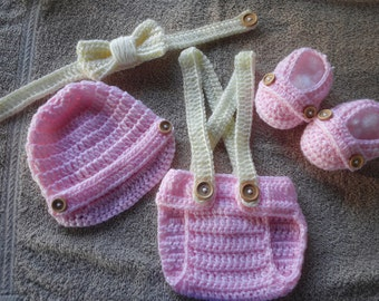 Crochet Baby Infant Girl Diaper Cover Set Photo Prop Shower Gift MADE TO ORDER