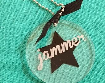 Jammer Key Ring or Bag Tag in Custom Colors, teammates, gift, derby sister, mvp awards
