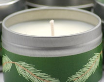 Sugared Spruce Soy Candle, 4oz Tin