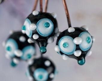 set of 4 lampwork copper headpins.......... sra