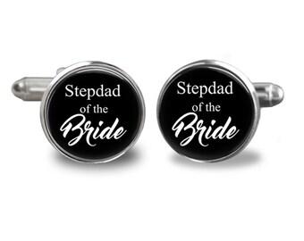 Stepdad Of The Bride Wedding Cuff Links, Men Accessories,Father's Day  Cuff Links, Groom Wedding Cuff Links, Groomsmen Gifts