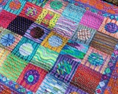 Lots of Dots Modern Baby Quilt or Lap Quilt-Made with Kaffe Fassett fabrics