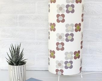 Purple Mod Flowers Table Lamp Bedside Light