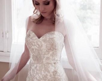 Bridal Cap Wedding Veil, Bridal Illusion Tulle Juliet Cap with Blusher Option, Fingertip, Waltz, Chapel, Cathedral, Style: Bridal Cap #1107