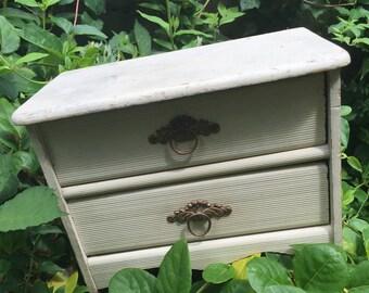 Antique French Shabby Chic Boudoir Dresser jewelry box