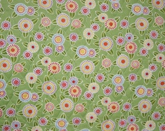 Floral Polka dot Double Faced Prequilted Fabric