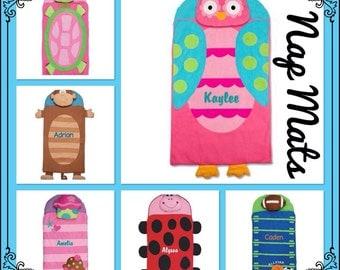 Kids Nap Mat  / stephen joseph / personalized toddler blanket  / preschool napmat  / toddler napmat / nursery school NapMat