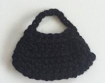 Handmade Ellowyne Gene Clothes Purse Handbag Crochet Black