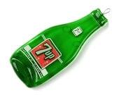 Vintage 7 Up Glass Bottle Spoon Rest / Melted Bottle / Antique Bottle / Housewarming Gift / Stocking Suffers / Old Bottles / Christmas Gifts