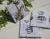 Shabby French Crown CD, DVD Pockets, Paper Sleeve Holder