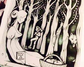 Fairy Tale signed poster by illustrator Andrea Joseph