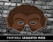 Sasquatch Mask | Bigfoot Mask | Printable Mask | Last Minute Costume