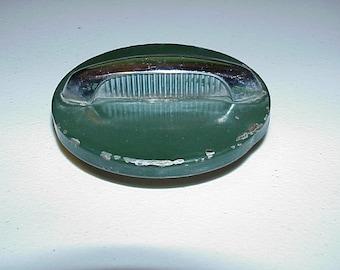 """Vintage--Automobile--GAS CAP--Green With Chrome Handle--3-3/4"""" Diameter--Fuel Tank Cap"""