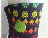 Winter Clearance Coffee cup sleeve, coffee cozy Alien Invaders arcade game