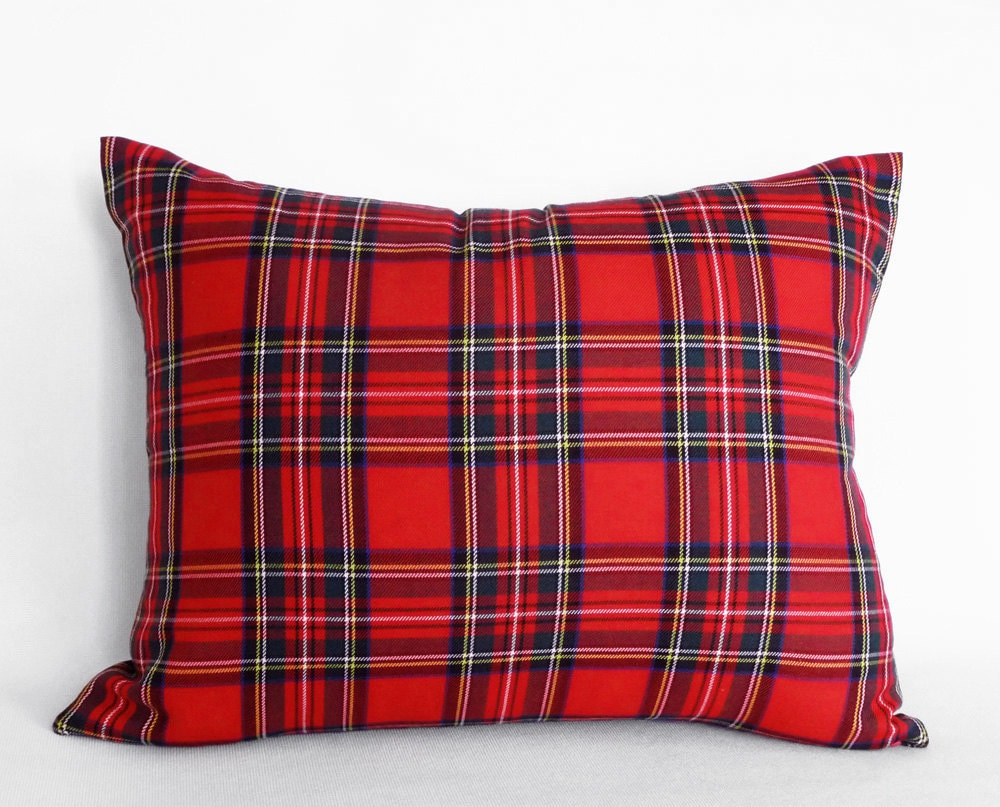 Red Plaid Pillow Cover Red Tartan Pillows Christmas Plaid