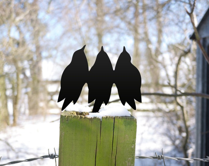 Garden Birds Chorus, for Plant Pot, Post or Fence
