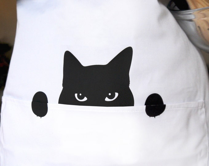 Cat Kitchen Apron for a Cat Loving Chef