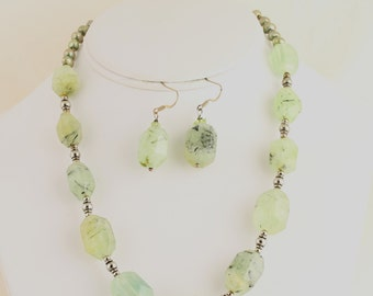 Prehnite Necklace. Listing 256857220