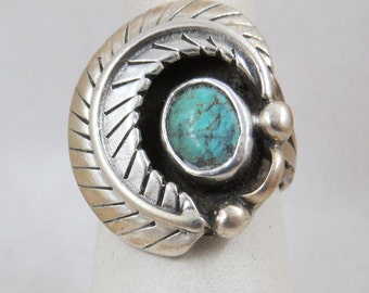 Sterling Silver and Turquoise Cabochon Southwest
