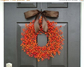 FALL WREATH SALE Berry Wreath, Fall Berry Wreath, Fall Wreath with Berries, Fall Decor, Fall Decoration  Weatherproof Berries