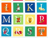 ABC, Alphabet  Fabric Panel from Dr. Seuss by Robert Kaufman 24 x 44 inches