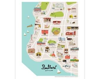 Greater Ballard: Illustrated Map