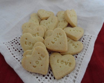 Heart LOVE Vanilla Mini Shortbread Cookies