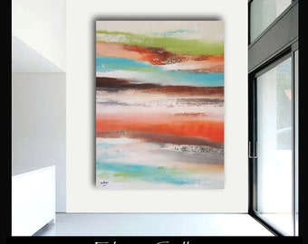 58x45 Ex large original modern abstract painting by Elsisy, US artist
