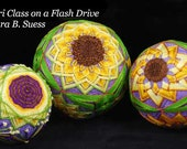 Sunflowers Temari Course on a flash drive