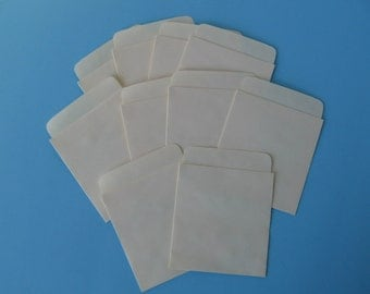"Lot Of 10 Library Card ""Pockets"" - Pockets Only"