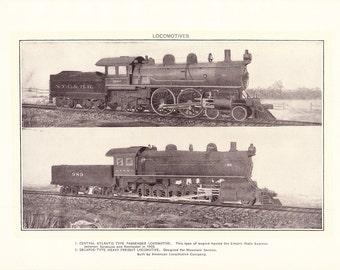1917 Train Locomotive Print