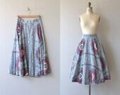 Timbali skirt | vintage 1950s skirt | barkcloth 50s circle skirt