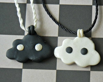 Polymer Clay Best Friends Cloud Charm Necklaces