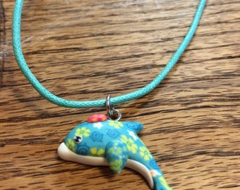 Adjustable whale necklace