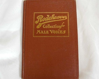 Vintage antique songbook, Rodeheaver, men's quartets, 1916, gospel, hymns, secular, prohibition songs