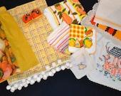 Vintage Kitschy Orange Hues Lot of Ten