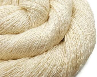 Silk Cashmere Yarn - Recycled Lace - Cashmere Yarn - Cream 270216