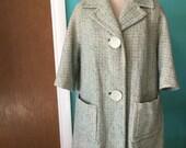 Pastel Dream Coat - 1950's Pastel Tweed Boxy Coat