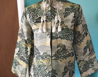 Voyage to Shanghai - 1940's Asian Brocade Topper Coat