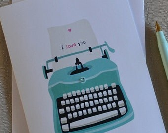 Valentine, Typewriter, Love, Romance, Romantic, Card, Valentine, Note, For her, For him