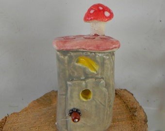 Fairy out house   - outhouse miniature  for your terrarium.. ..We all gotta go .Toilet potty time