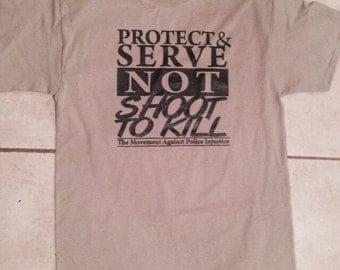 Protect & Serve tee