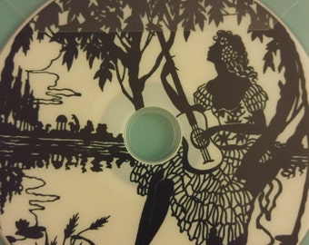 Vintage black SILHOUETTES art images CD
