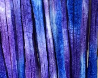 WILD IRIS silk/merino roving 2 oz