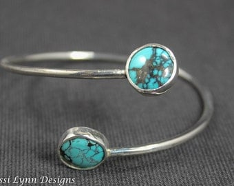 Turquoise double wrap cuff