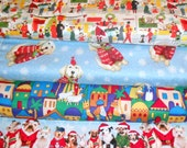 CHRISTMAS #7  fabrics, sold individually,not as a group, sold by the Half Yard, please see body of listing