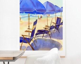 Beach Chairs - Oversized Wall Art